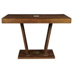 Rare Oak Console Table from France, circa 1920
