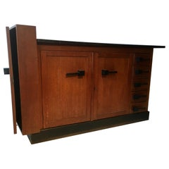 Rare Oak Haagse School Sideboard Attributed to Jan Brunott, Netherlands, 1920