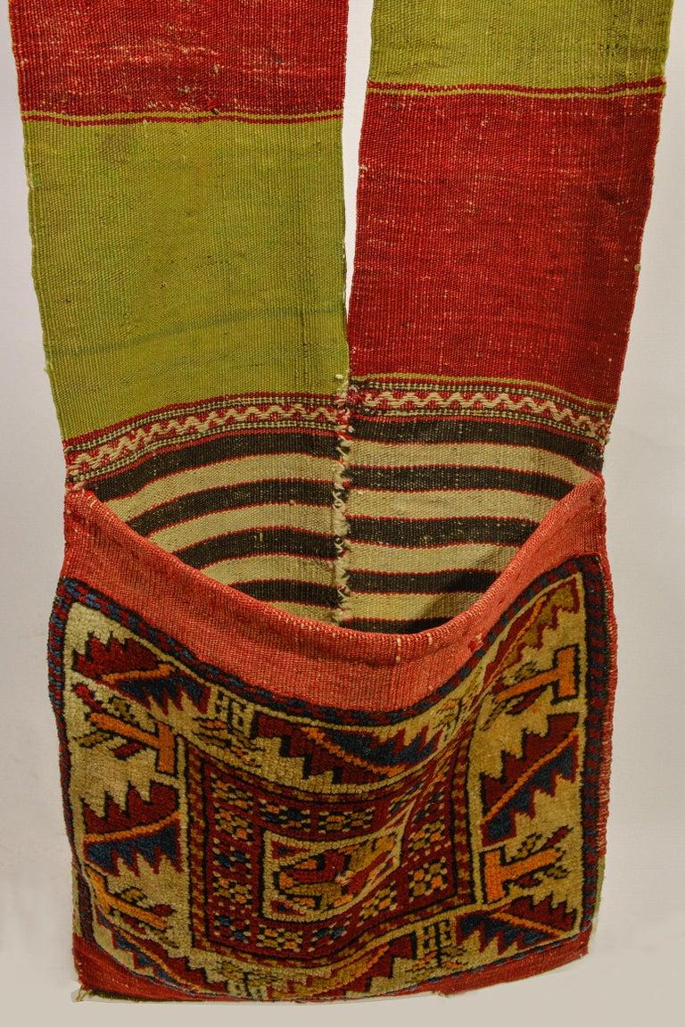 Rare Old Shahsavan Saddle Bag For Sale 2