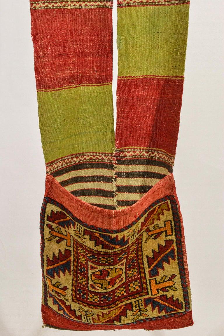 20th Century Rare Old Shahsavan Saddle Bag For Sale