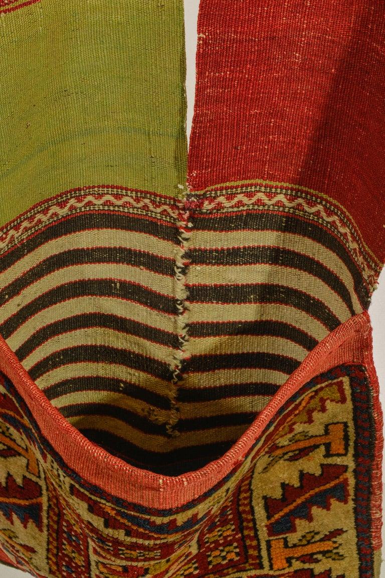 Wool Rare Old Shahsavan Saddle Bag For Sale