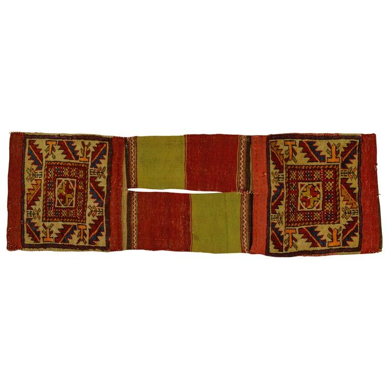 Rare Old Shahsavan Saddle Bag For Sale