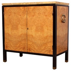 Rare Olive Burl Cabinet by Edward Wormley for Dunbar