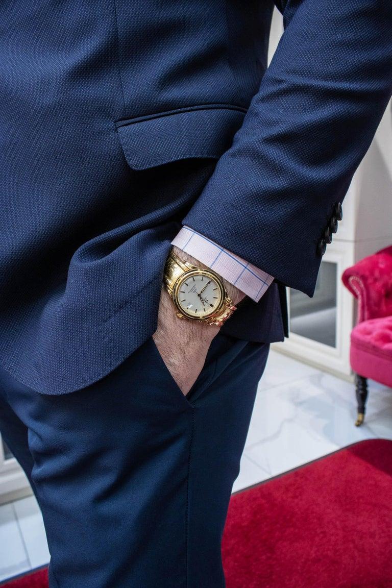 Rare Omega De Ville Yellow 18k Gold Co-Axial Chronometer Wristwatch For Sale 2