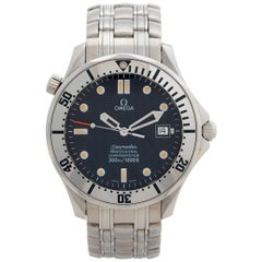 Rare Omega Seamaster 300m Diver 2532.80.00, Blue Wave Dial, Box and Papers