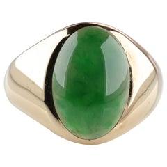 Rare Omphacite Jade Ring