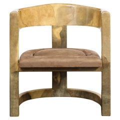 Rare Onassis Lounge Chair by Karl Springer, 1970's