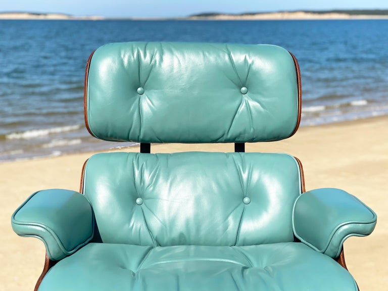 Rare Custom Herman Miller Eames Lounge Chair and Ottoman For Sale 4