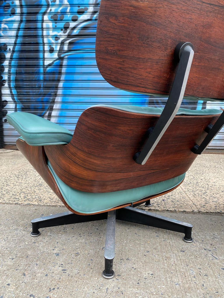 American Rare Custom Herman Miller Eames Lounge Chair and Ottoman For Sale