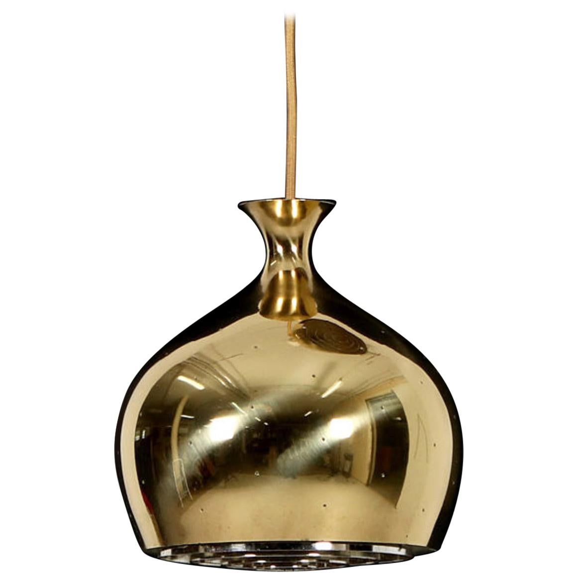 Rare Onion Pendants in Perforated Brass by Helge Zimdal