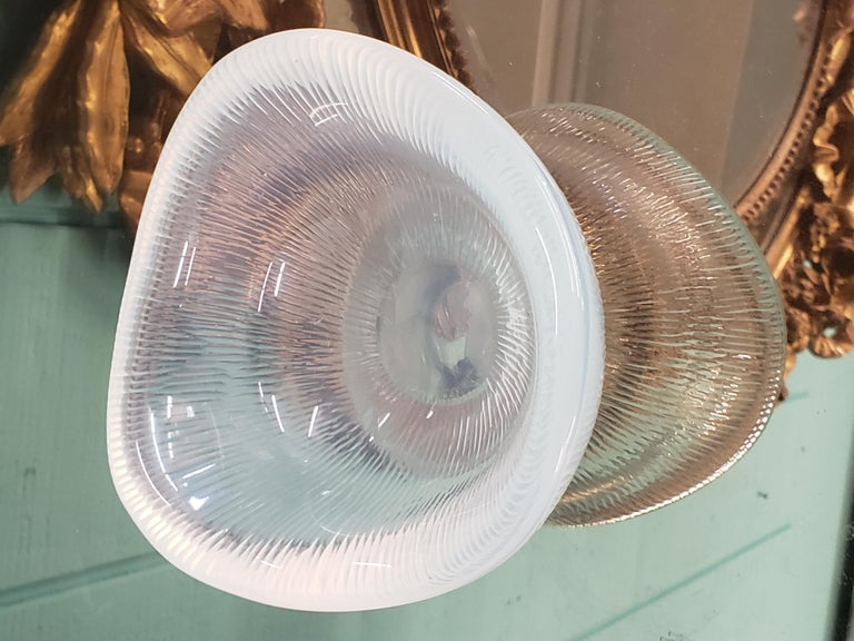 Mid-20th Century Rare Opalescent Orrefors Battuto Bowl by Sven Palmqvist For Sale