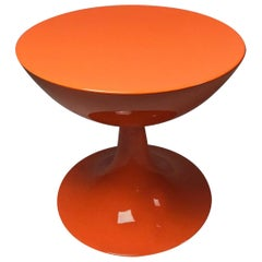 Rare Orange Design Stool by Nanna Ditzel for Domus Danica, Denmark, 1969
