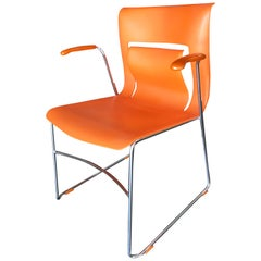 "Rare Orange Stylex ""Rhythm"" Armchair by Sva Cvek, Set of 4"