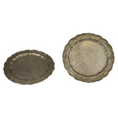 Rare Oriental Pewter Plates, Early 19th century