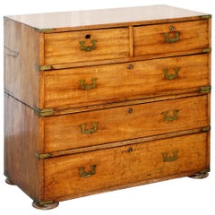 Rare Original 10th February 1813 Uk Napoleonic War Campaign Chest of Drawers