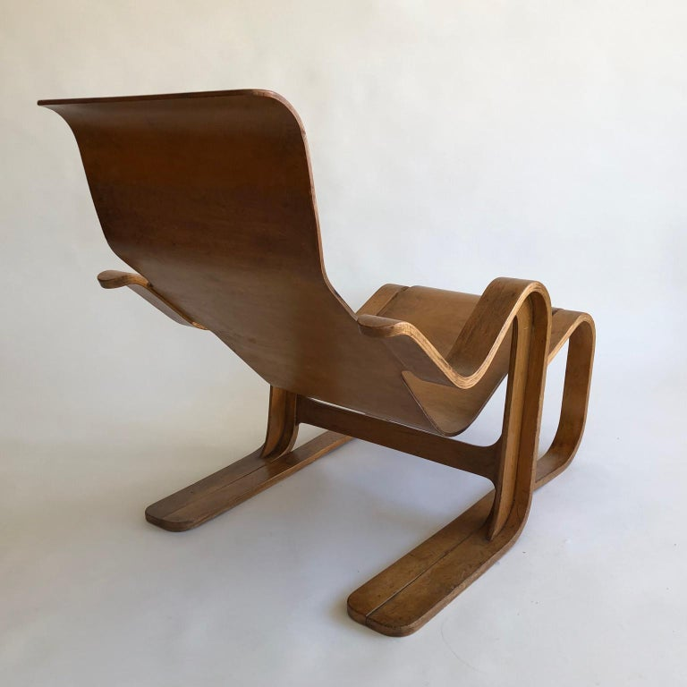 British Rare Original 1930s Marcel Breuer Bent Plywood Short Chair for Isokon, UK For Sale