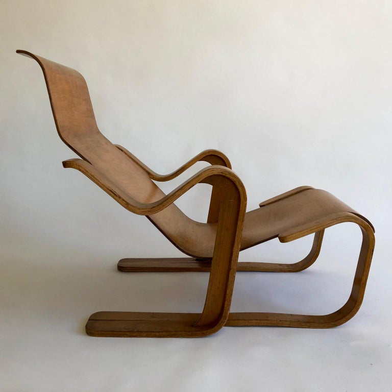 Rare Original 1930s Marcel Breuer Bent Plywood Short Chair for Isokon, UK For Sale 2
