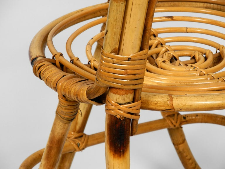 Rare Original 1960s Bamboo Chair with High Backrest For Sale 6