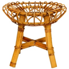 Rare Original 1960s Bamboo Stool Attributed to Janine Abraham & Dirk Jan Rol