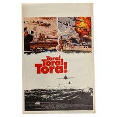 Rare Original 1970 Tora Tora Tora Film Poster, from Belgium, War Movie