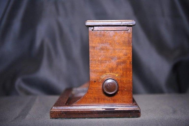 Mahogany Rare Original Alfred Dunhill Inlaid Art Deco Cigarette Dispenser from 1920s For Sale