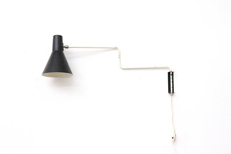 Dutch Rare Original Anvia 'Paper Clip' Wall Lamp For Sale