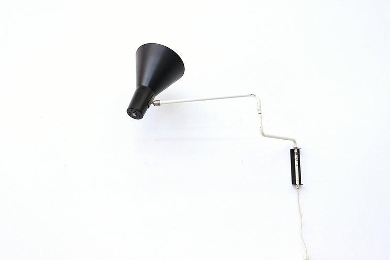 Enameled Rare Original Anvia 'Paper Clip' Wall Lamp For Sale