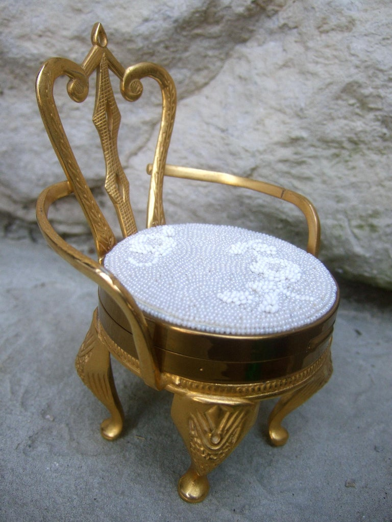Rare Original by Robert' Vanity Compact Chair Collectible c 1960 For Sale 8