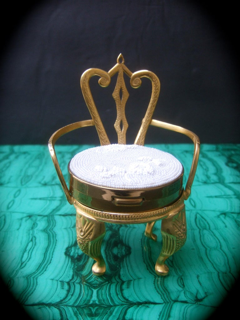 Women's Rare Original by Robert' Vanity Compact Chair Collectible c 1960 For Sale