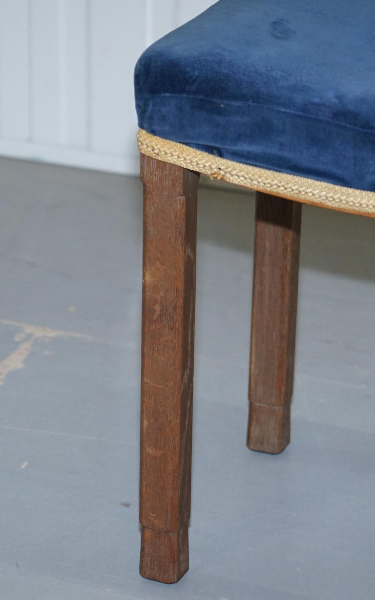 Rare Original King George vi Coronation Stool 1937 Limed Oak by Waring & Gillow For Sale 7