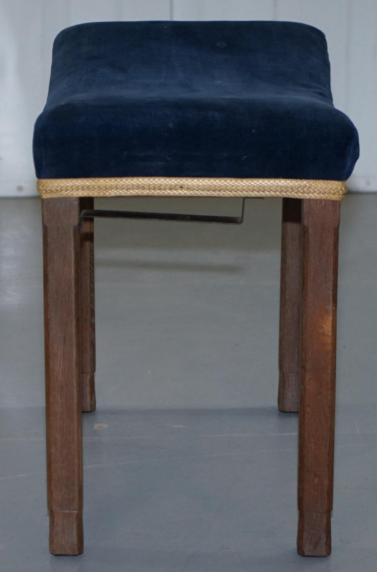 Rare Original King George vi Coronation Stool 1937 Limed Oak by Waring & Gillow For Sale 8