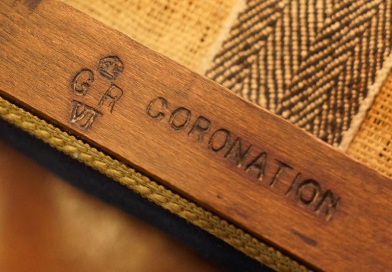 Regency Rare Original King George vi Coronation Stool 1937 Limed Oak by Waring & Gillow For Sale