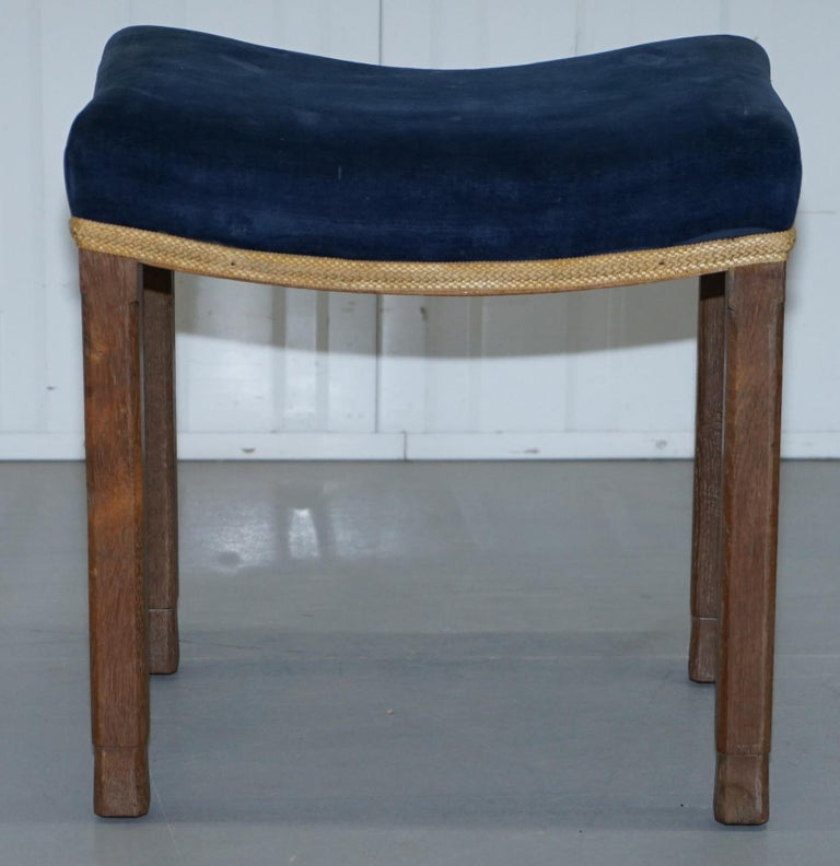 Hand-Crafted Rare Original King George vi Coronation Stool 1937 Limed Oak by Waring & Gillow For Sale