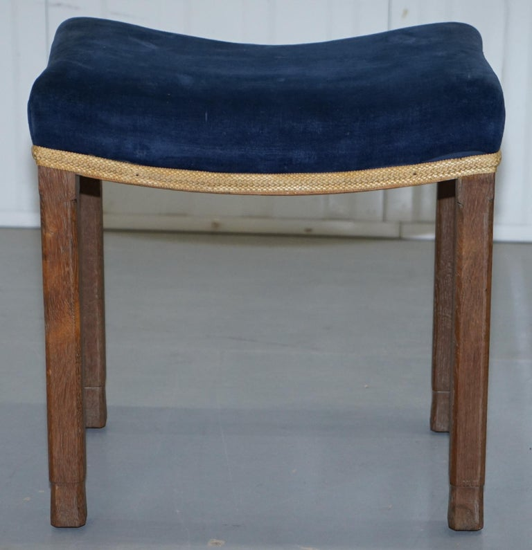 Rare Original King George vi Coronation Stool 1937 Limed Oak by Waring & Gillow For Sale 1