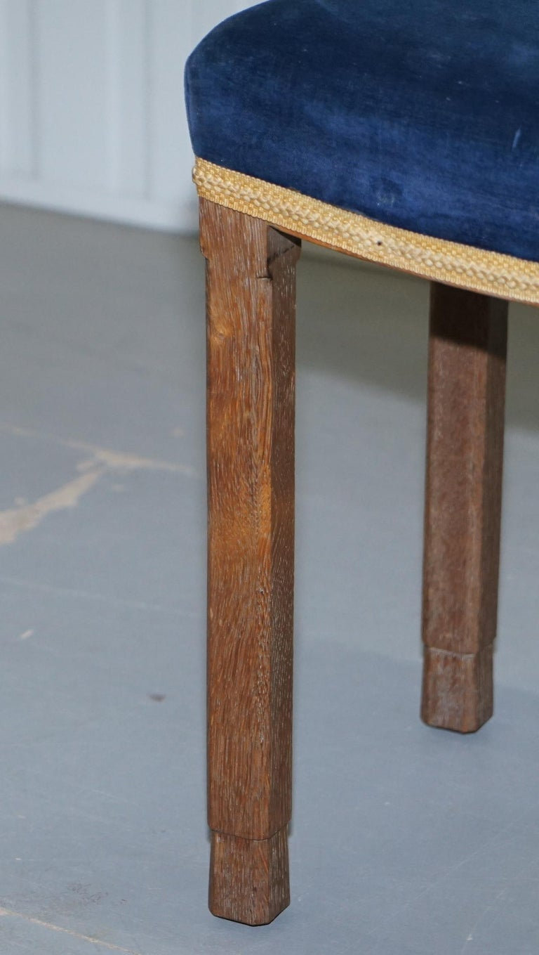 Rare Original King George vi Coronation Stool 1937 Limed Oak by Waring & Gillow For Sale 2