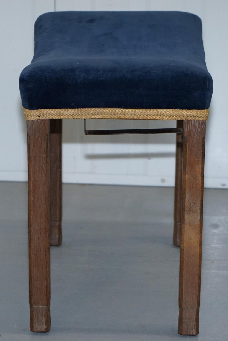 Rare Original King George vi Coronation Stool 1937 Limed Oak by Waring & Gillow For Sale 3