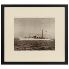 Rare Original Photograph by Kirks of Cowes of Gentleman's Motor Yacht Amerata