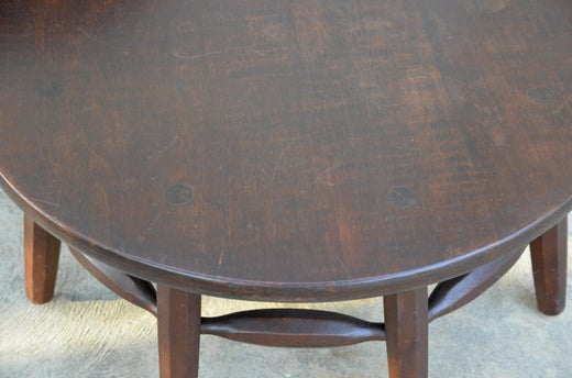Rare Original Round Monterey Coffee Table Or Ottoman Signed At