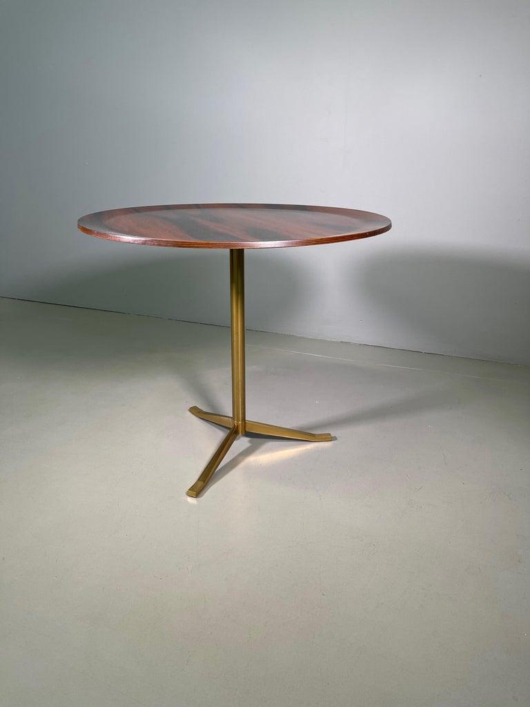 Brass Rare Osvaldo Borsani Coffee Side Table Atelier Borsani Varedo Production For Sale