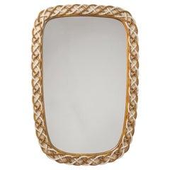 Rare Osvaldo Borsani Mirror, 1949, Carved Wood