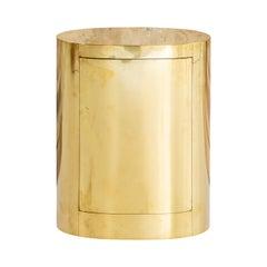 Rare Oval Brass Bar by Gabriella Crespi