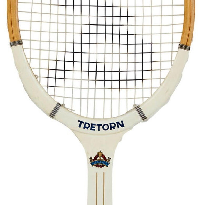 Swedish Rare Oversized 1970s Wooden Tretorn Tennis Racket For Sale