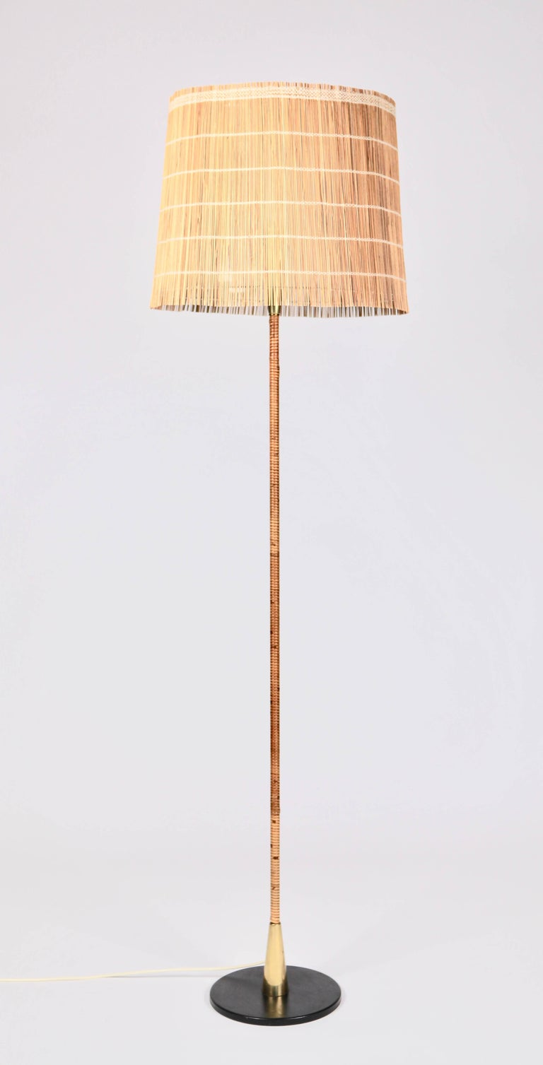 Paavo Tynell, floor lamp manufactured by Idman Oy in Finland in the 1950s.  Impressed with manufacturers label