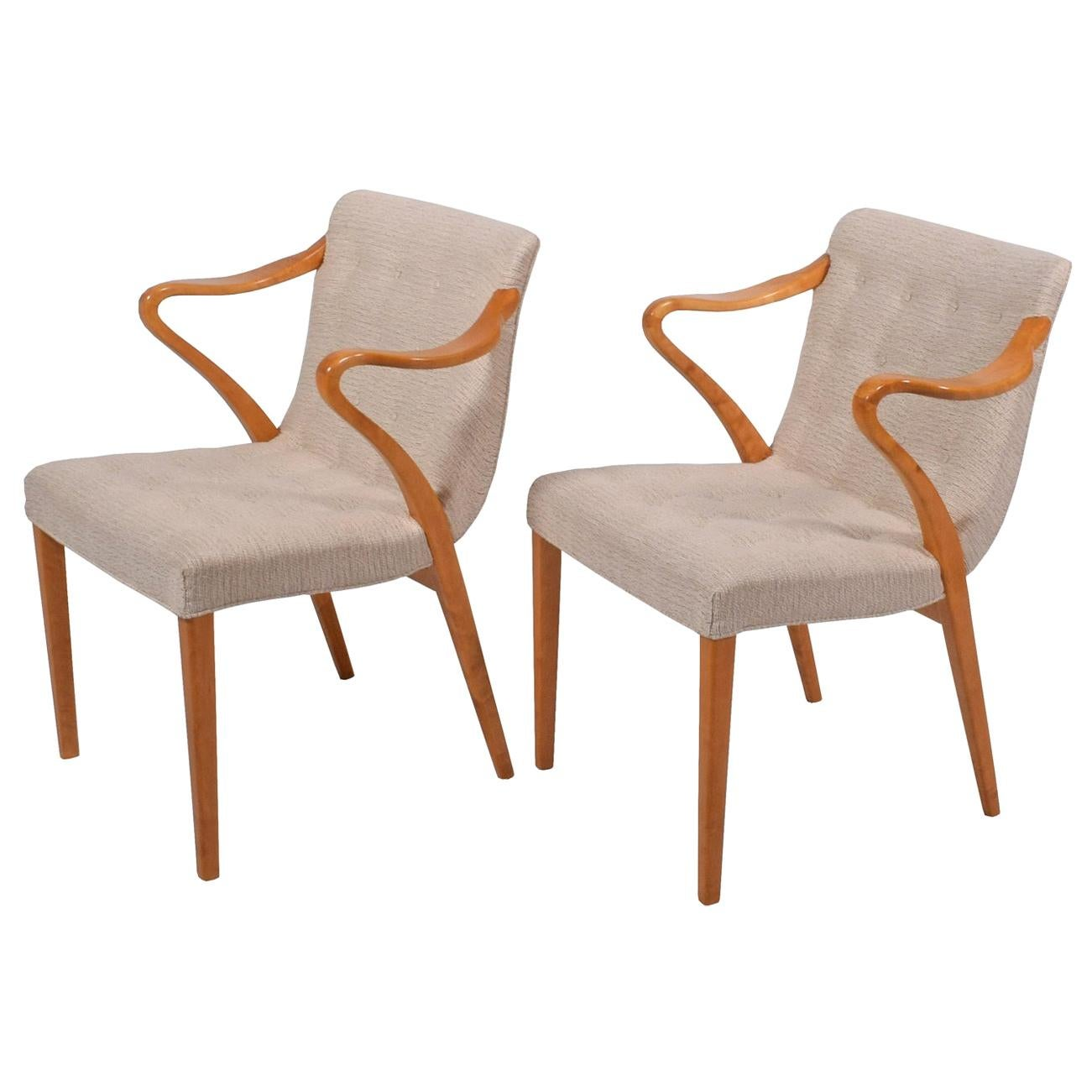 Rare Pair of Armchairs by Axel Larsson for Bodafors, 1936