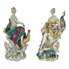 Rare Pair of Derby Porcelain Jupiter & Juno, c. 1760