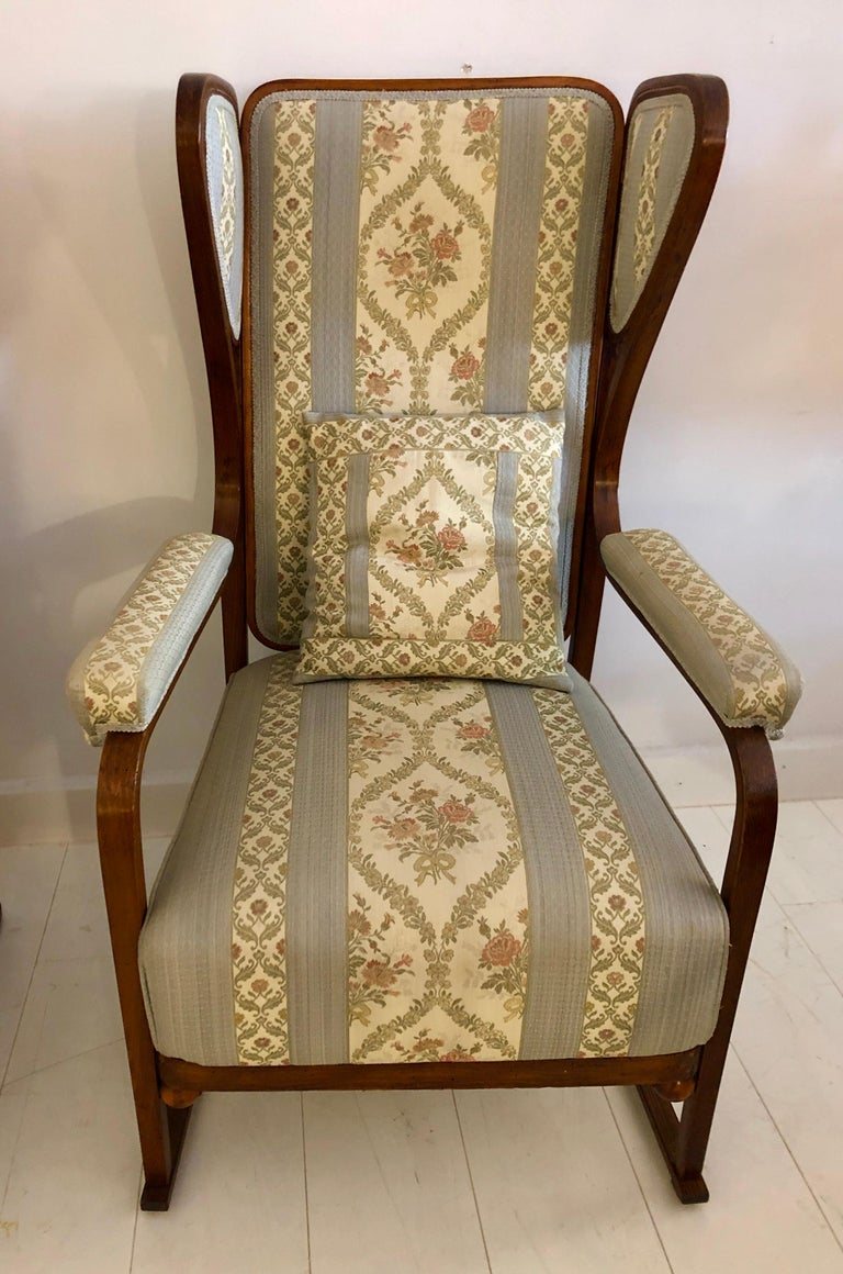 Rare Pair of Josef Hoffmann Wingback Chairs For Sale 5