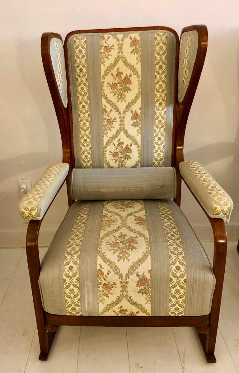 Rare Pair of Josef Hoffmann Wingback Chairs For Sale 6
