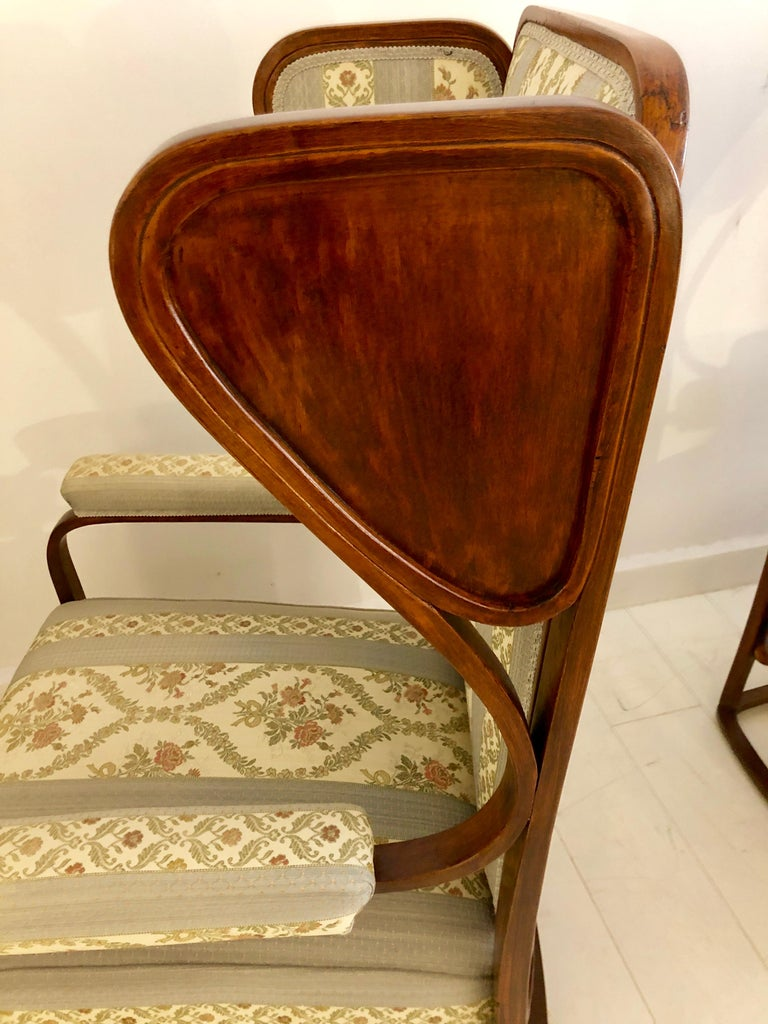 Rare Pair of Josef Hoffmann Wingback Chairs In Good Condition For Sale In Hudson, NY