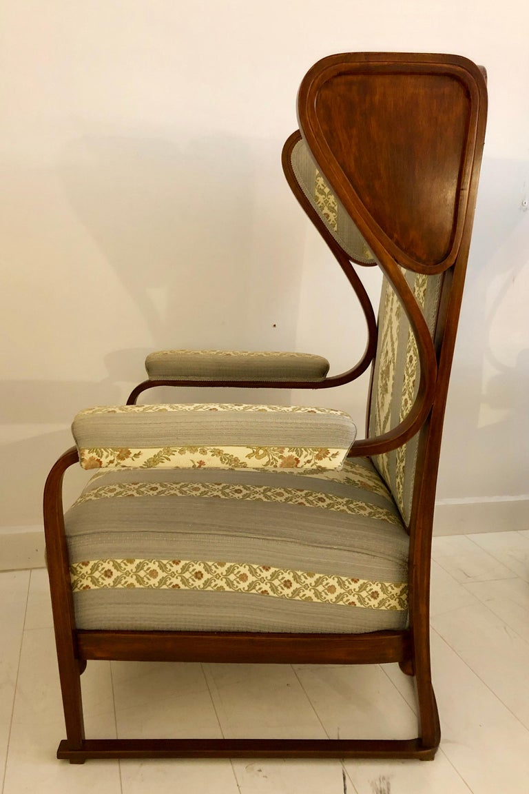 Rare Pair of Josef Hoffmann Wingback Chairs For Sale 2