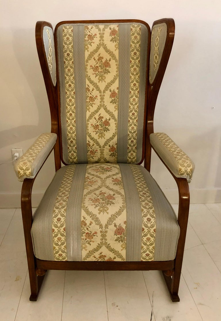Rare Pair of Josef Hoffmann Wingback Chairs For Sale 3
